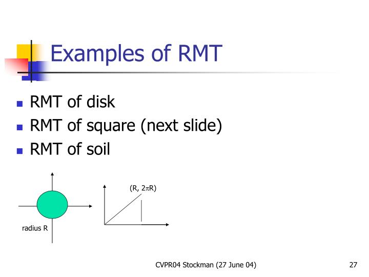 Examples of RMT