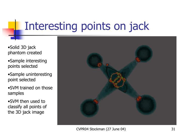 Interesting points on jack