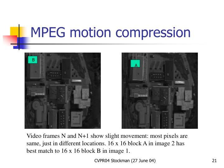 MPEG motion compression