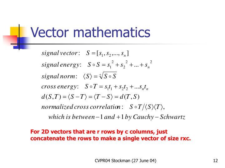 Vector mathematics