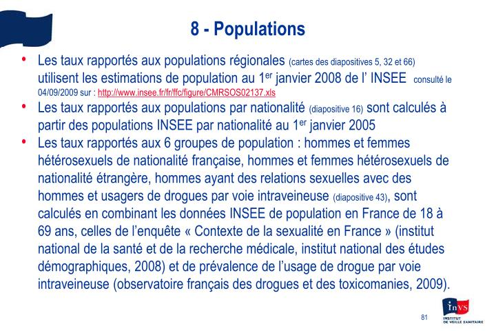 8 - Populations