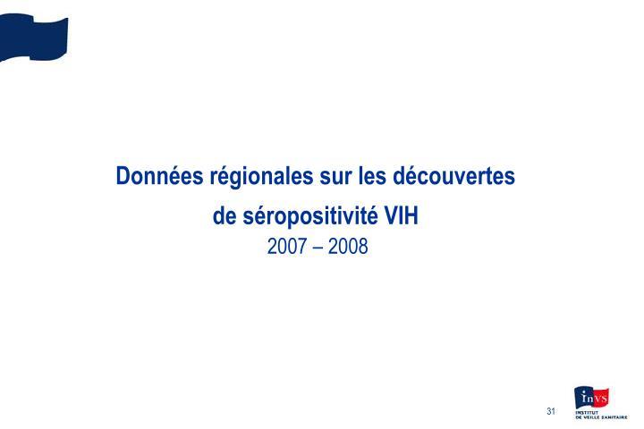 Données régionales sur les découvertes
