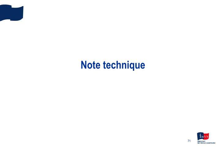 Note technique