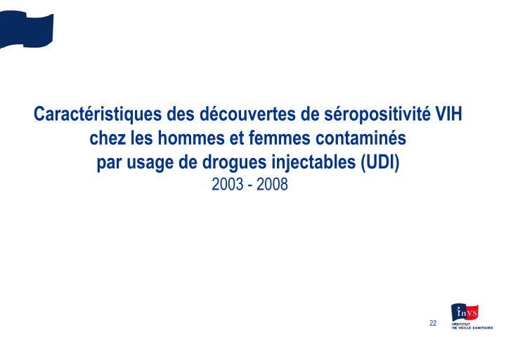 Caractéristiques des découvertes de séropositivité VIH