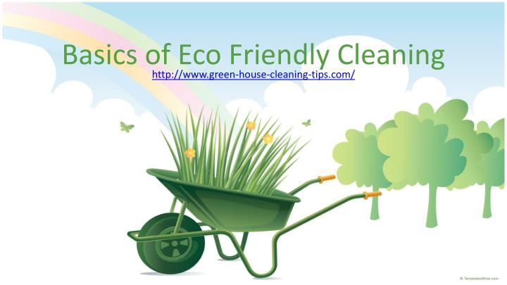 Basics of eco friendly cleaning