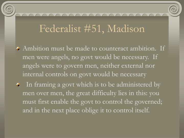 Federalist #51, Madison