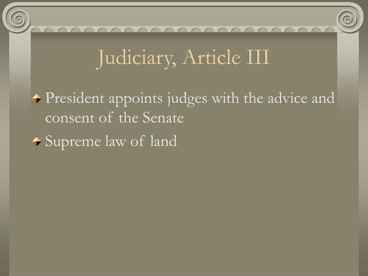 Judiciary, Article III