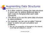augmenting data structures