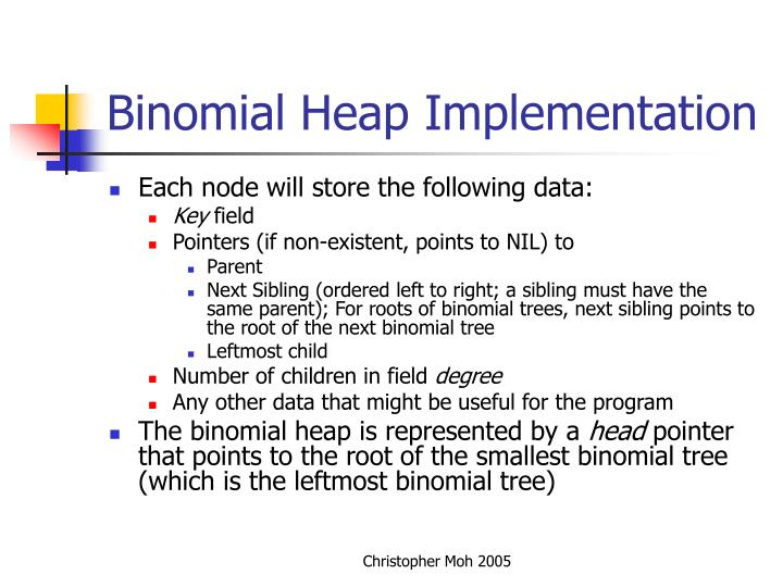 Binomial Heap Implementation