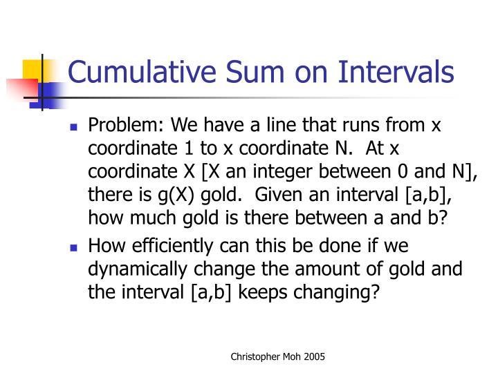 Cumulative Sum on Intervals