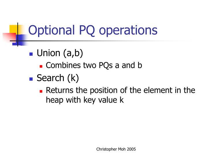 Optional PQ operations