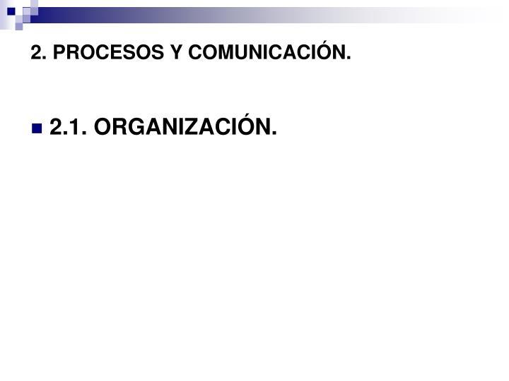 2. PROCESOS Y COMUNICACIÓN.