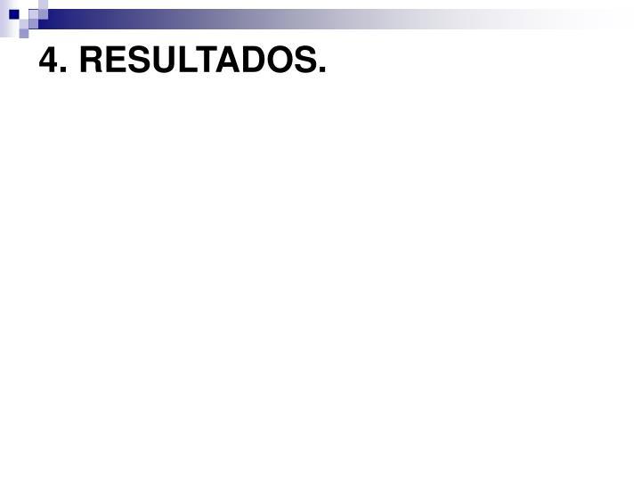 4. RESULTADOS.