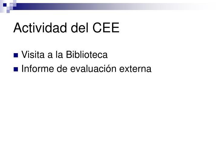 Actividad del CEE