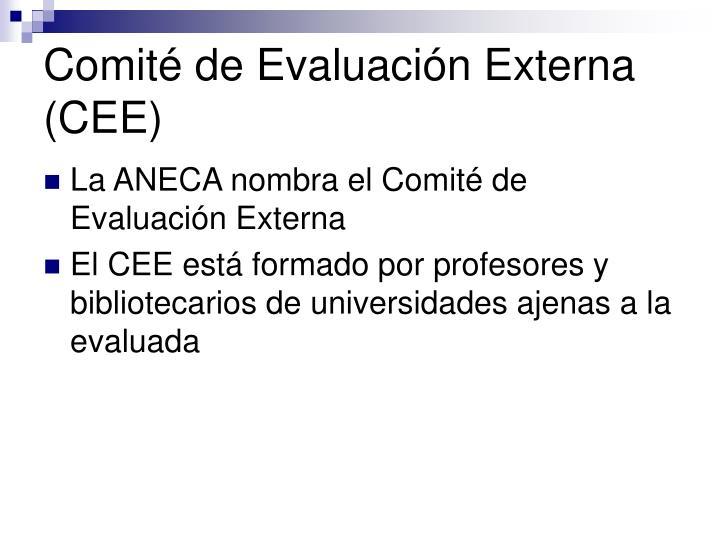 Comité de Evaluación Externa (CEE)