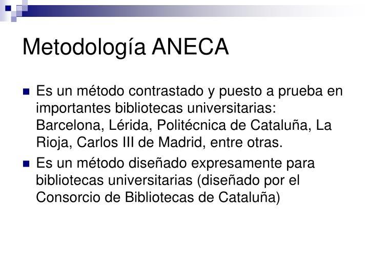 Metodología ANECA