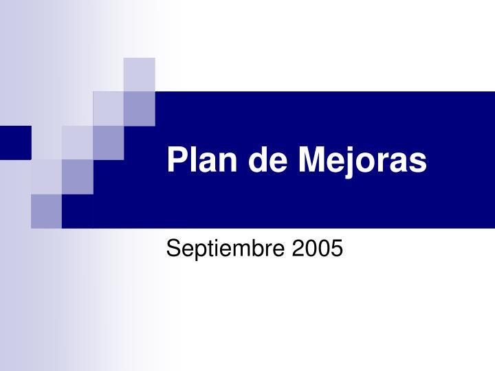 Plan de Mejoras