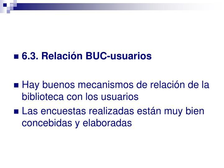 6.3. Relación BUC-usuarios