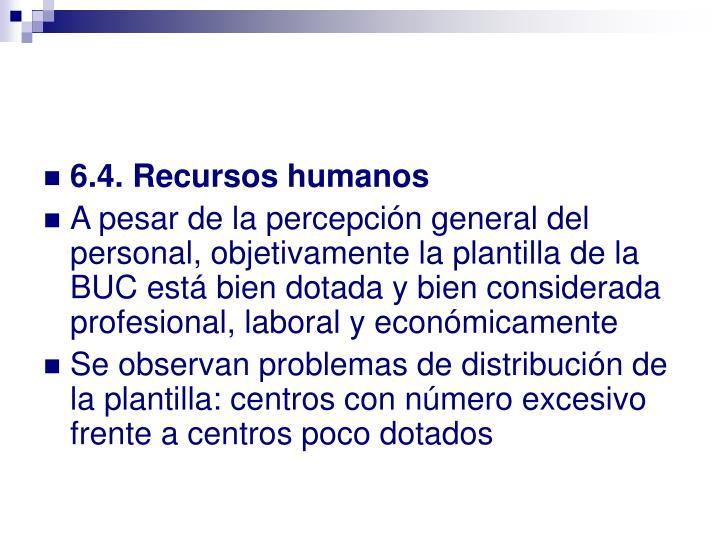 6.4. Recursos humanos