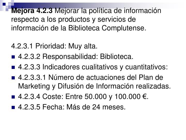 Mejora 4.2.3