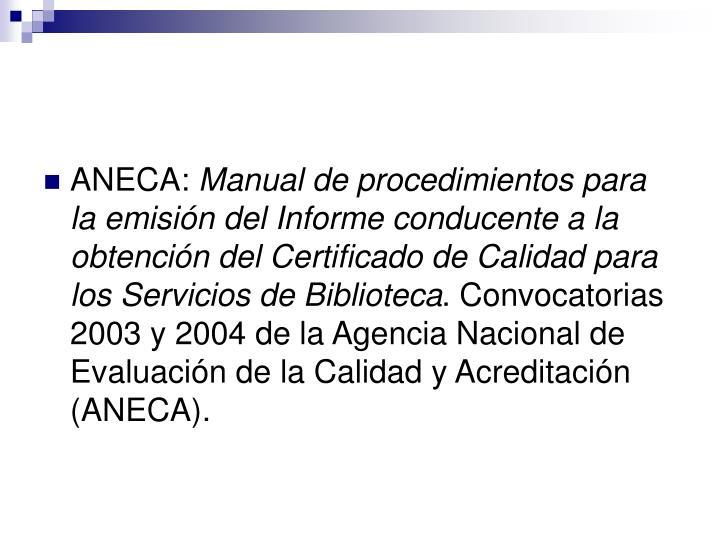 ANECA: