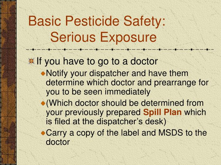 Basic Pesticide Safety: