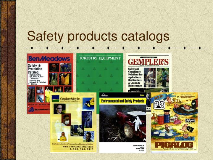 Safety products catalogs