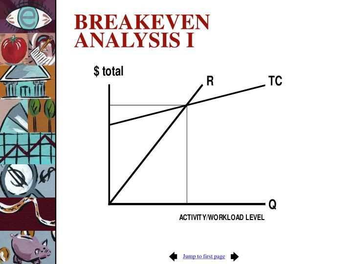BREAKEVEN ANALYSIS I