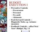 budget execution i