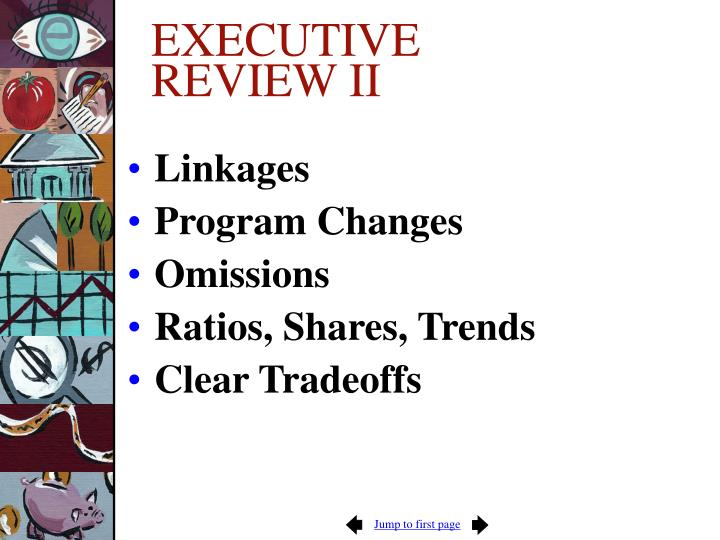 EXECUTIVE REVIEW II