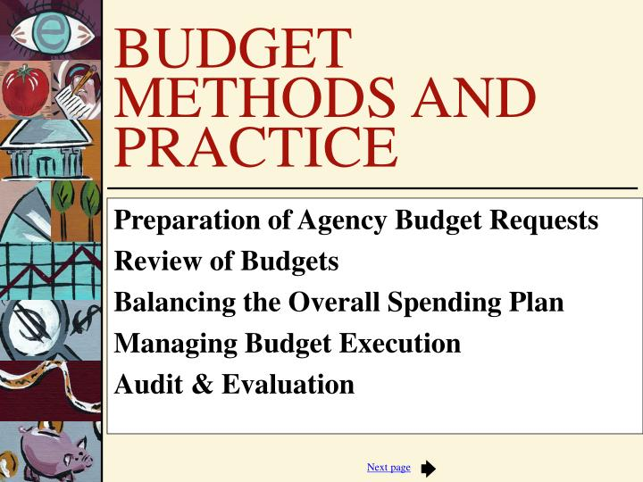 Preparation of Agency Budget Requests