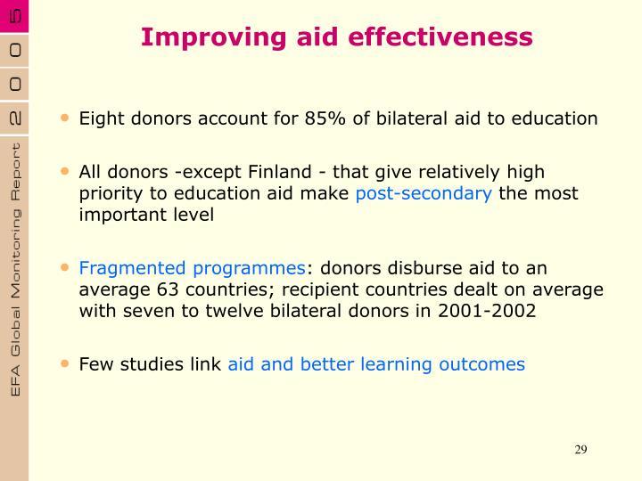 Improving aid effectiveness