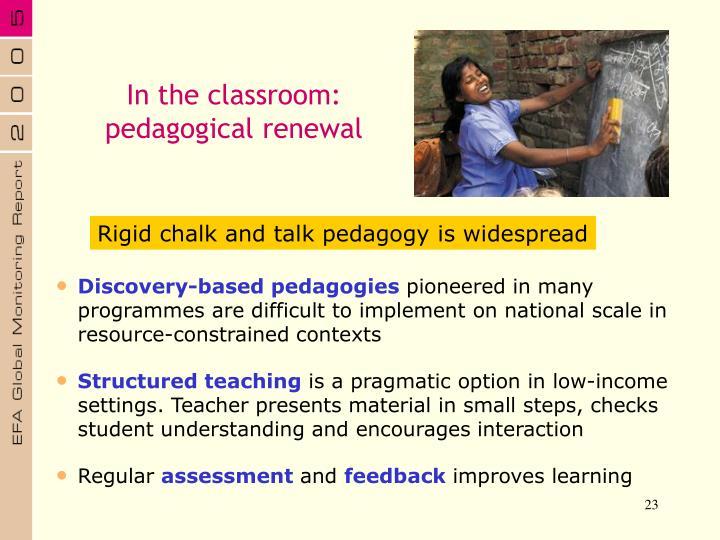 In the classroom:
