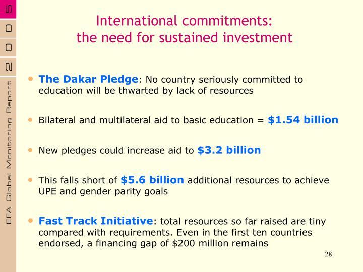 International commitments: