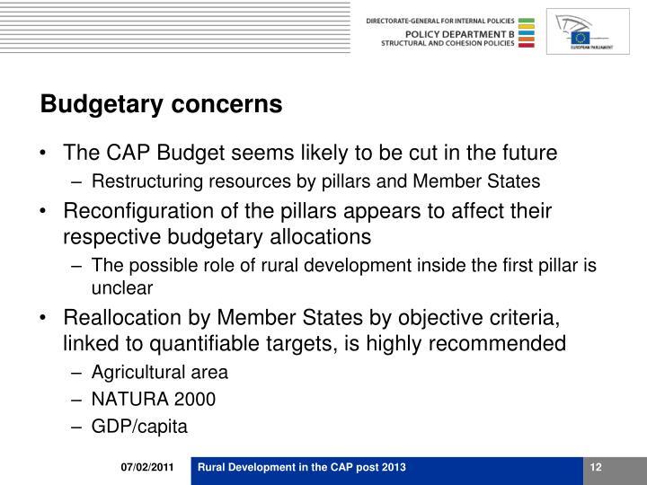 Budgetary concerns