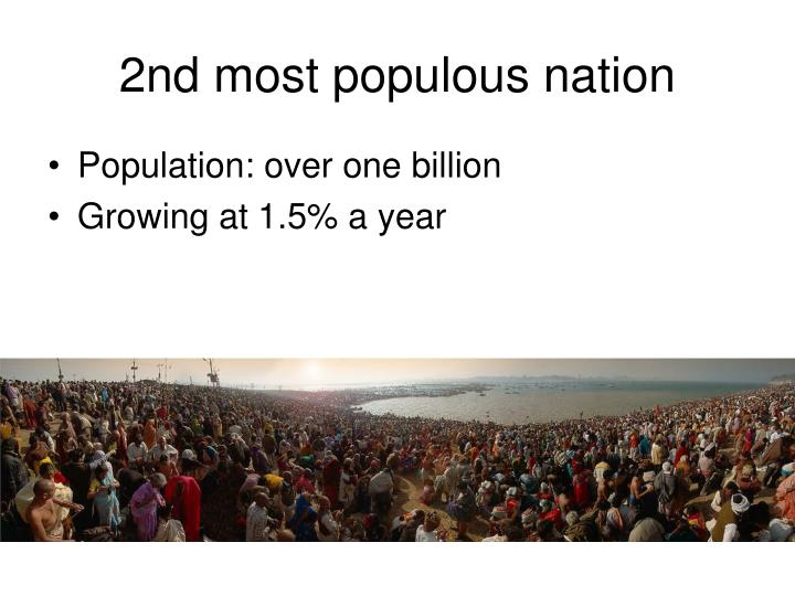 2nd most populous nation