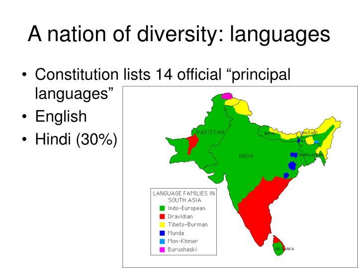 A nation of diversity: languages