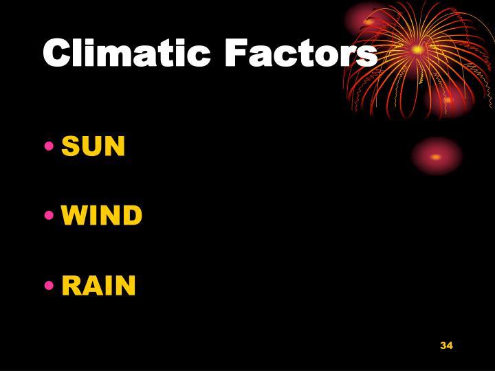 Climatic Factors