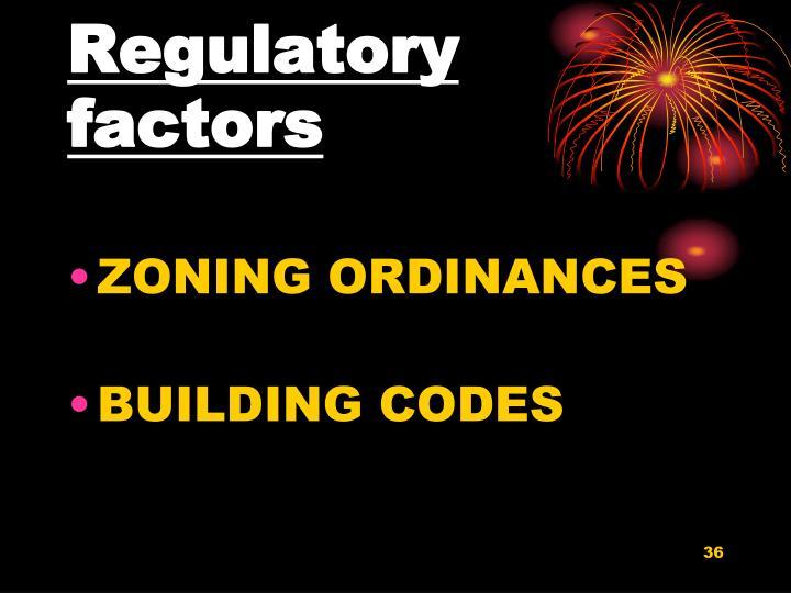 Regulatory factors
