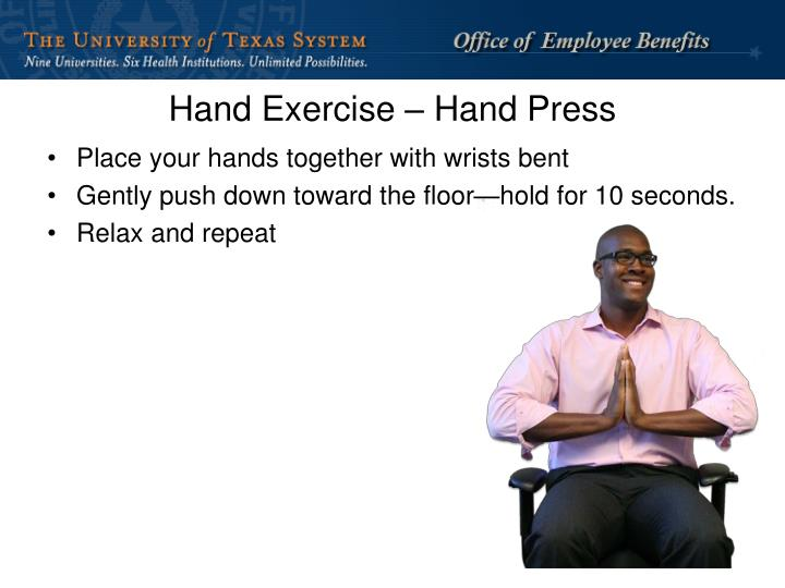 Hand Exercise – Hand Press