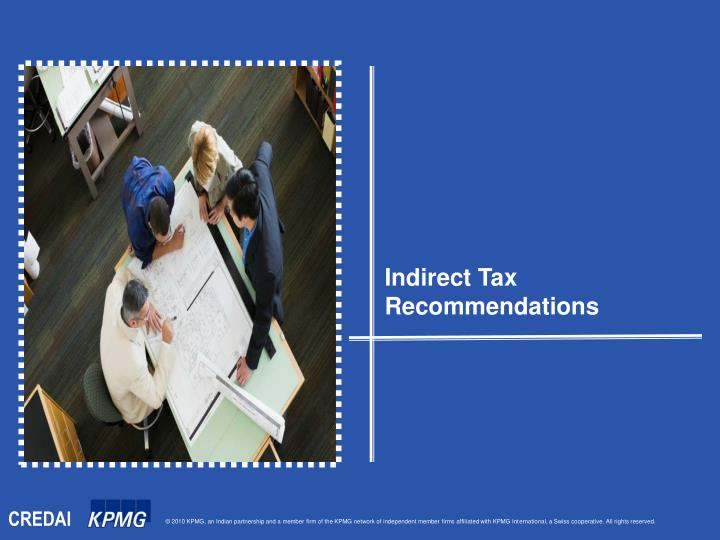 Indirect Tax Recommendations