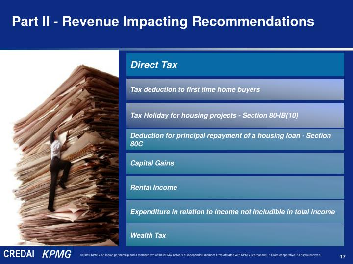Part II - Revenue Impacting Recommendations