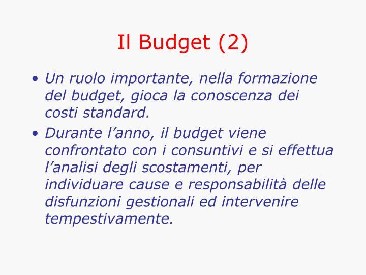 Il Budget (2)