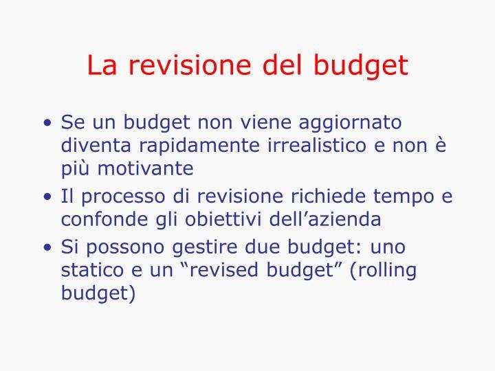 La revisione del budget