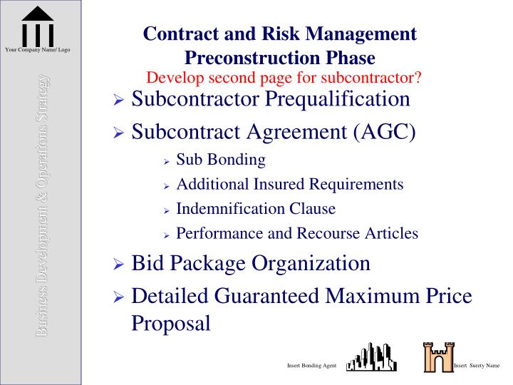 Contract and Risk Management