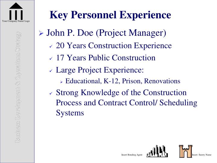 Key Personnel Experience