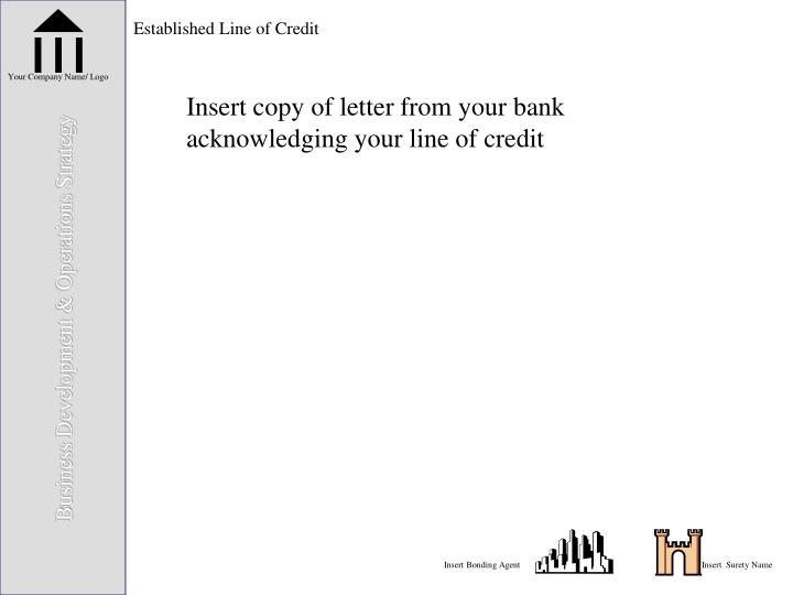 Established Line of Credit