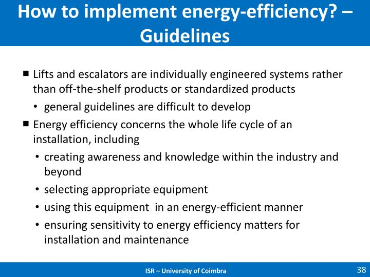How to implement energy-efficiency? – Guidelines