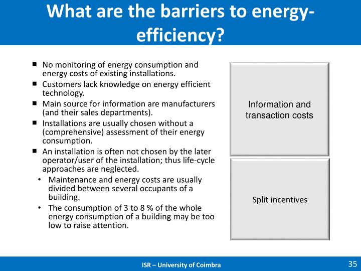 What are the barriers to energy-efficiency?