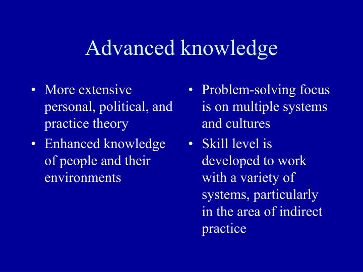 More extensive personal, political, and practice theory